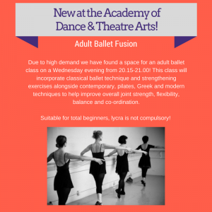 New at the Academy of Dance & Theatre Arts